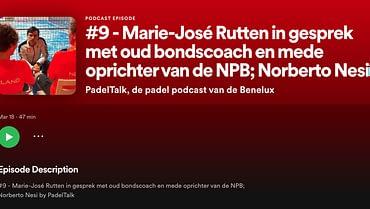 PadelTalk – Marie-José Rutten in gesprek met Norberto Nesi
