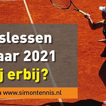 Tennislessen Voorjaar 2021