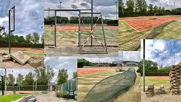 Ook nieuwe tennisbanen!