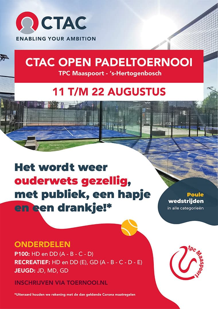 Enabling your ambition CTAC Open padeltoernooi