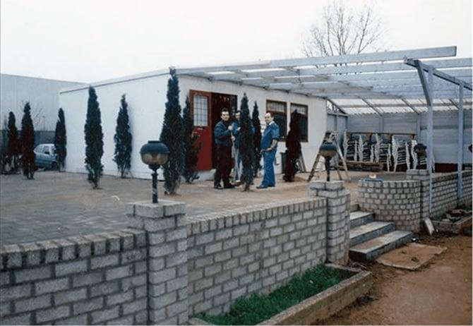 Eerste paviljoen TPC Maaspoort